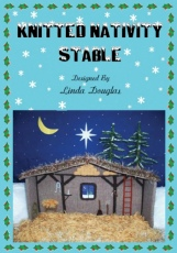 Knitted Nativity Stable Knitting Pattern by Linda Douglas