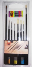 Artists Pure Bristle Brushes - Pack of 8